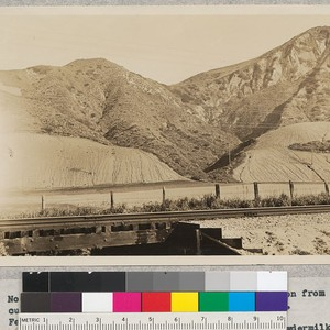 No. 3 - California, Ventura County. View of erosion from cultivation slopes ...