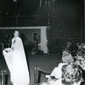 Fashion show on the eve of the Malibu Remuda, 1947