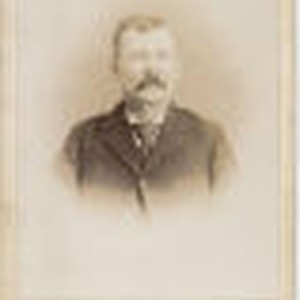 Portrait of Henderson Thorn, Mrs. Sharp's father, circa 1870s
