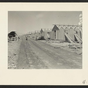 Parker, Ariz.--Constructing quarters for evacuees of Japanese ancestry at War Relocation Authority ...