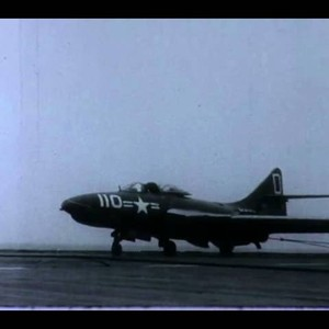 F-0844 Vought F7U Carrier Landings