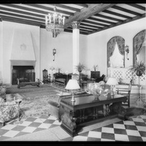 Lobby, Normandie Hotel, Southern California, 1932
