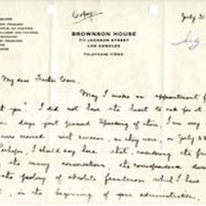 Mary J. Workman and Mattie J. Labory letters to Fr. Corr, 1919