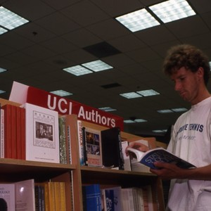 Students browsing in the UCI bookstore.