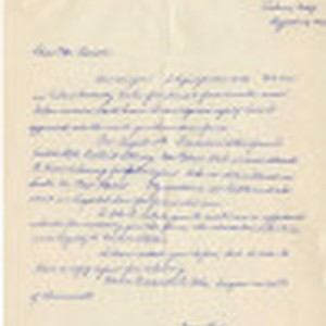 Letter from Yoshiko Kuwahara to Mr. [John Victor] Carson, and statement by ...