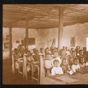 Girls at their lessons, in the boarding school at Segbwema, Sierra Leone, ...
