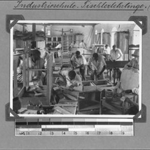 Joiner's apprentices at the industrial school, Rungwe, Tanzania