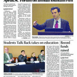 Daily Trojan, vol. 184, no. 11, Jan 29, 2015