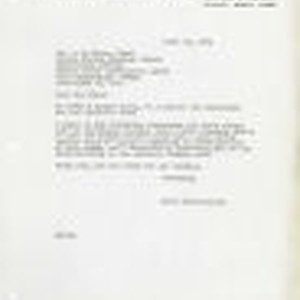 Letter from Bruce Herschensohn, Hollywood (Los Angeles, Calif.) to A.J. Gross, United ...