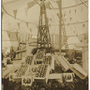 [Exhibit showing windmill at Sebastopol Apple Show]