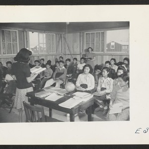 A scene in Jr. High School--the ninth grade. Mrs. M. H. Ziegler, ...