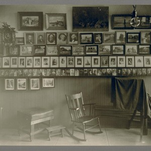Taken Saturday, April 22nd, 1922. [Interior of photography studio of Max W. ...
