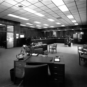 Interior views of the Healdsburg branch of the First National Bank, Healdsburg, ...