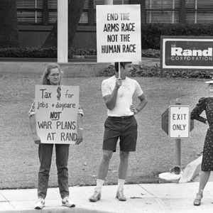 Protest at Rand Corporation