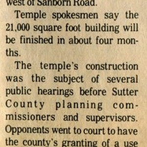 Construction to Start on Sikh Temple Next Week