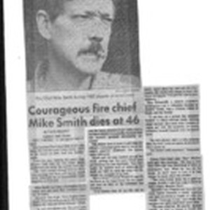 Courageous fire chief Mike Smith dies at 46