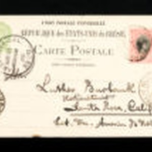 Postcard to Luther Burbank from a firm in Porto Alegre, Brazil, 1903
