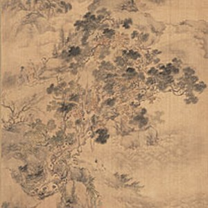 Landscape with Taoist Immortals 18 century A.D
