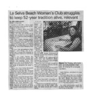La Selva Beach Woman's Club struggles to keep 52-year tradition alive, relevant