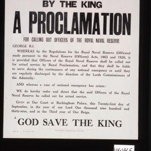 By the King. A proclamation for calling our officers of the Royal ...