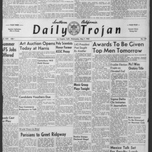 Daily Trojan, Vol. 43, No. 129, May 07, 1952