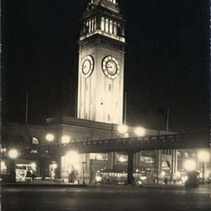 [Ferry Building at night]