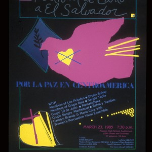 Festival de Canto a El Salvador, Announcement poster for