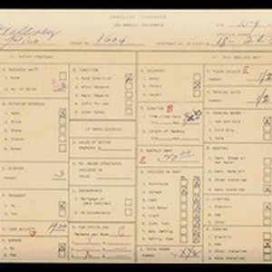 WPA household census for 1604 W PICO, Los Angeles