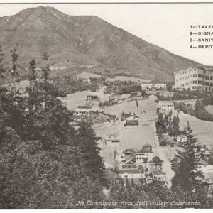 View of Mill Valley with Mt. Tamalpais in the background, circa 1910 ...