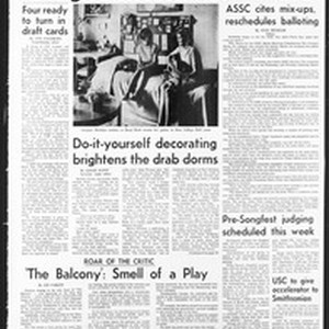 Daily Trojan, Vol. 59, No. 103, April 03, 1968