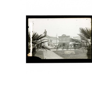 Plaza scene,Arcata [View of statue of William McKinley]