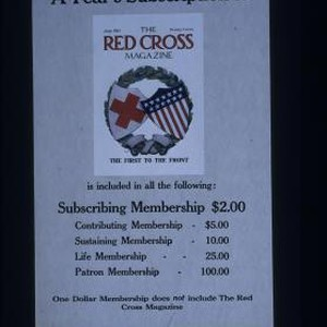 A year's subscription to the Red Cross Magazine isincluded in all the ...