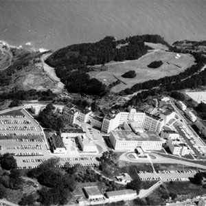 [Aerial view of Veterans' Administration Facility at Fort Miley]
