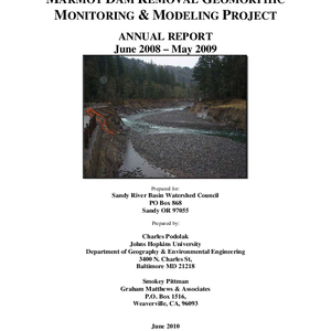 Marmot Dam Removal Geomorphic Monitoring & Modeling Report
