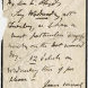 Charles Kean letter to Mr. Lloyds