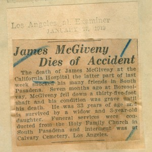 James McGiveny dies of accident