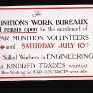 The Munitions Work Bureaux will remain open for the enrolment of War ...