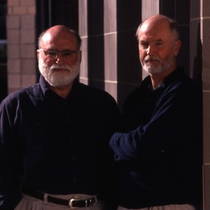 Humanities Professors, Wulfie and James McMichael.