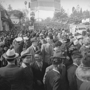 Colorado Boulevard looking west after the 1939 Rose Parade