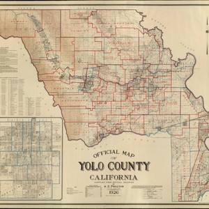 Official Map of Yolo County California, Compiled from Official Records, by A.G. ...