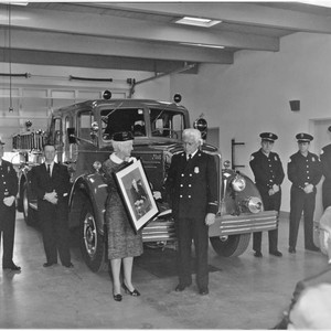 Dedication ceremony at Fire Station No. 6