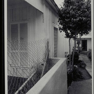 Shotgun style house, 2712 Second Street, Ocean Park, Calif. from the north ...