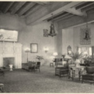 [Interior main lounge general view El Cortez Apartment Hotel, 720 Ash Street, ...