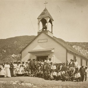 St. Mary's Catholic Church and congregation on the Morongo Indian Reservation bordering ...