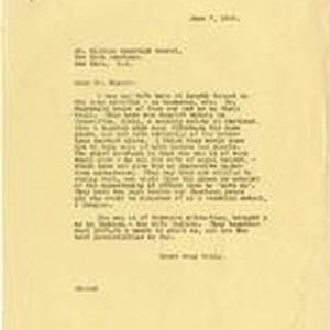 Letter from Julia Morgan to William Randolph Hearst, June 7, 1925