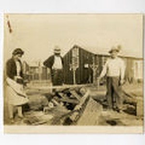 Cutting firewood in the Jerome camp
