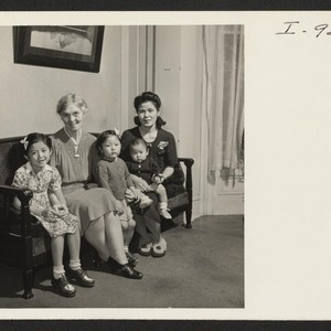 Mrs. K. Sasaki, formerly from Minidoka, poses for her picture with her ...