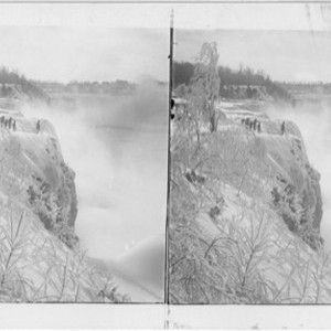 Majestic beauty of Ice Bound Niagara - from Prospect Park (S.W.) over ...