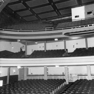 Seats inside the Mason Theatre