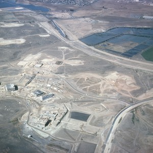 Campus site, aerial view looking west toward upper bay
